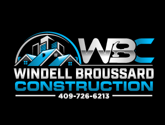 Windell Broussard Construction logo design