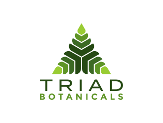Triad Botanicals logo design