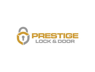 Prestige Lock and Door logo design