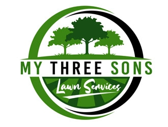 My three sons lawn services  logo design