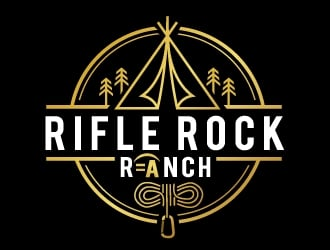Rifle Rock Ranch logo design