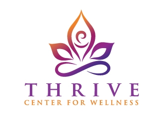 Thrive Center for Wellness logo design