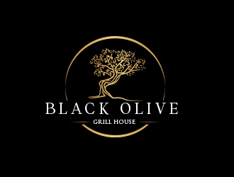 Black Olive Grill logo design winner
