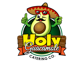 Holy Gaucamole Catering Co. logo design