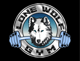 Lone Wolf Gym logo design