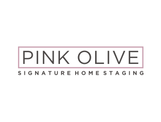 Pink Olive Signature Home Staging logo design