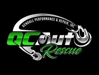 QC Auto Rescue  logo design