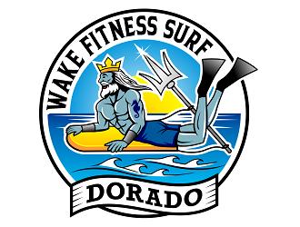 WAKE FITNESS SURF DORADO logo design winner