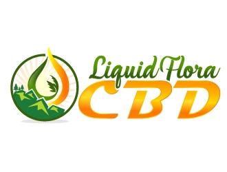Liquid Flora CBD logo design winner