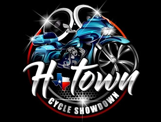 H-Town Cycle Showdown logo design