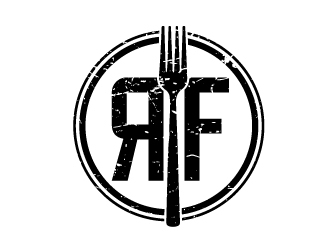 The rustic fork eatery  logo design