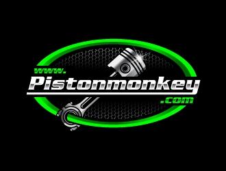 www.pistonmonkey.com logo design by jishu