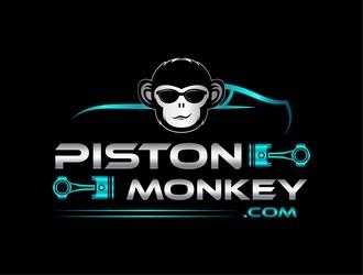 www.pistonmonkey.com logo design by ksantirg