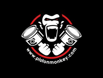 www.pistonmonkey.com logo design by Pode
