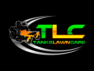 Tanks Lawn Care logo design