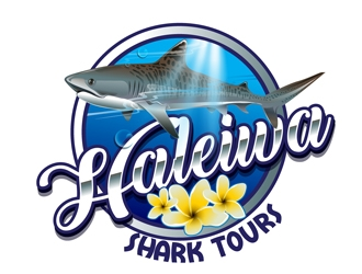 Haleiwa Shark Tours logo design