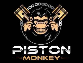 www.pistonmonkey.com logo design by Kyo25
