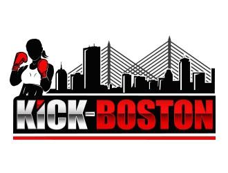 Kick-Boston logo design