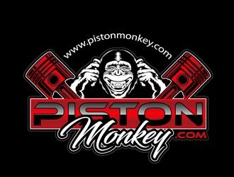 www.pistonmonkey.com logo design by DreamLogoDesign