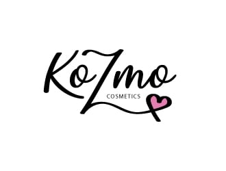 KoZmo Cosmetics logo design winner