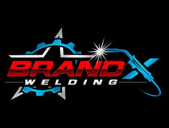 Brand X Welding logo design