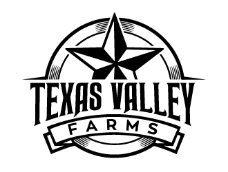 Texas Valley Farms logo design