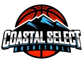 Coastal Select Basketball logo design