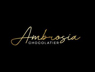 Ambrosia Chocolatier logo design