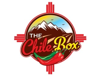 The Chile Box logo design