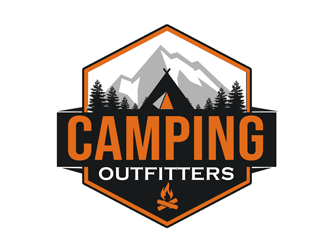 Camping Outfitters logo design