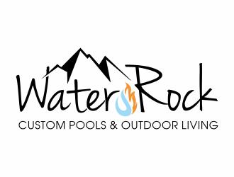 Water Rock Custom Pools & Outdoor Living logo design