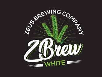 ZBrew White logo design