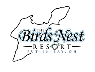 The Birds Nest Resort logo design