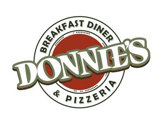 Donnie's Breakfast Diner & Pizzeria logo design