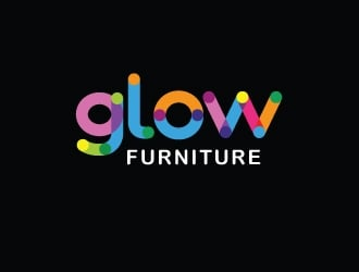 Glow Furniture logo design