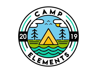 Camp Elements logo design