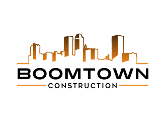 Boomtown Construction logo design