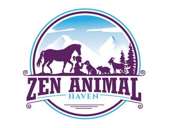 Zen Animal Haven logo design by frontrunner