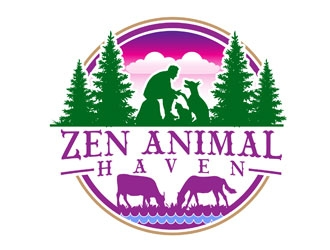 Zen Animal Haven logo design by LogoInvent