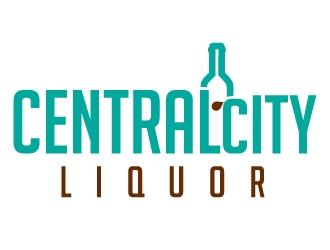 Central City Liquor  logo design by Suvendu