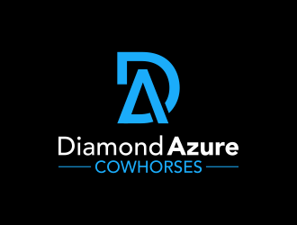 Diamond Azure Cowhorses and Diamond Azure ranch logo design