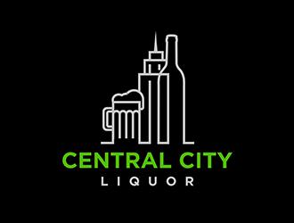 Central City Liquor  logo design by logolady