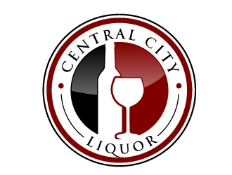 Central City Liquor  logo design by ElonStark