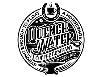 Quench Water Coffee Company - Farriers Blend logo design