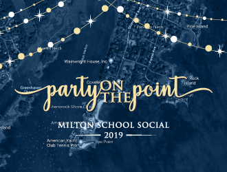 Party on the Point- Milton School Social 2019 logo design