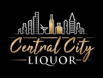 Central City Liquor  logo design
