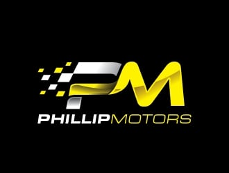 Phillip Motors logo design
