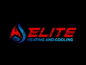 Elite heating and cooling logo design