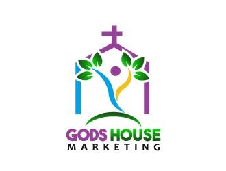 Gods House Marketing logo design by samuraiXcreations