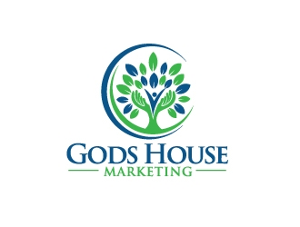 Gods House Marketing logo design by moomoo